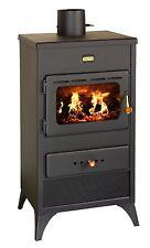 Poêle à Bois Multi Carburant cheminée brûleur foyer chauffage au Bois PRITY K1 E
