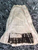 Antique Doll Skirt Salvage Primitive China Lady Fabric Prim Sewing