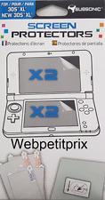 2 FILM Protège Pour Nintendo 3 DS Xl + 2 FILM New 3DSXL Neuf et Emballer