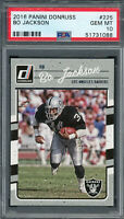 Bo Jackson Raiders 2016 Panini Donruss Football Card #225 PSA 10 GEM MINT