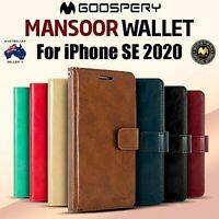 iPhone SE 2020 Genuine MERCURY Goospery Mansoor Diary Flip Case Wallet Cover