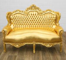 LUXUS BAROCK SOFA in GOLD NEU BAROCKSTIL 3-SITZER MÖBEL DESIGNER COUCH GOLD SOFA