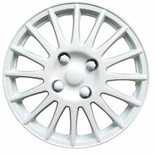 Brookstone 13 inch Car Wheel Trims Covers (White) Super ABS Alloy Type Look (4)