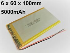 Lithium Polymer LiPo Batterie Akku 5000mAh 3.7 V 1S Powerbank PCB Tablet 9