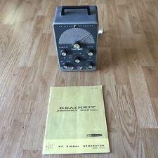 Heathkit IG-102 RF Signal Generator For Ham Radio With Manual