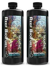 2x Brightwell Aquatics Reef Bio Fuel 1 Liter (33.8 oz) Liquid (Exp 4/24/2025)