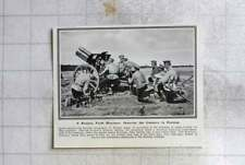 1915 Russian Field Howitzer Showing Gunners In Position