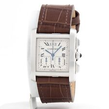Cartier Francaise Chronograph Tank Mens Stainless Steel 2531