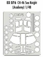 Eduard 1/48 CH-46 Sea Knight paint mask for Academy kit  # EX076