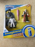 Fisher Price Imaginext DC Super Friends Harley Quinn and Black Mask New Mint