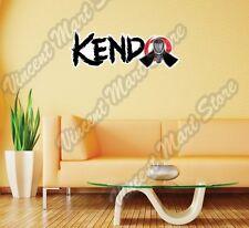 """Kendo Japanese Martial Art Swords Shina Wall Sticker Room Interior Decor 25""""X8"""""""