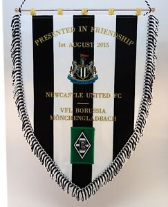 Borussia Mönchengladbach Bestickter Wimpel Embroidered Pennant Gagliardetto