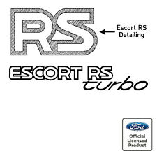 Ford Escort Mk4 RS Turbo Tailgate Stickers Decals RS Series 2 90 Spec
