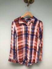 A Pea in the Pod Maternity Blouse Button Down Plaid Top Shirt Small S (sku#164)