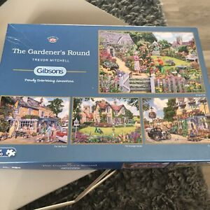 Gibsons 'The gardeners round' - X4 500 Piece Jigsaw Puzzles