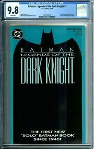BATMAN: LEGENDS OF THE DARK KNIGHT 1 CGC 9.8 WP BLUE COVER VARIANT NEW CGC CASE