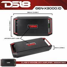 Ds18 Gen-X3000.1D 3000 Watt 1 Channel Mono Amplifier Class D Monoblock Car Amp