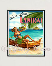 """Live,Love, Lanikai"" 11x14 Print by Hawaii watercolor artist Garry Palm"