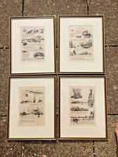 William Lionel Wyllie 1851 - 1931 set of four signed etchings Our Fathers 1913