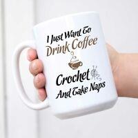 I Love Coffee Crochet and Naps - Hobby Novelty Coffee Mug