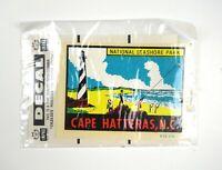 Vintage IMPKO Travel Decal Original Packaging - Cape Hatteras North Carolina