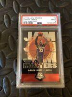 2019 Panini Mosaic Lebron James Jam Masters #16 Lakers PSA 9 Mint R58