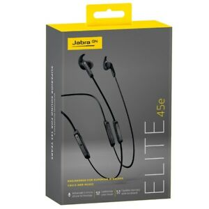 Jabra Elite 45e Wireless Earphones Titanium Black Retail Box w/Accessories