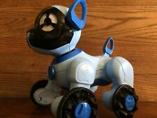 Wowwee chippie toy robot dog blue with remote slightly used