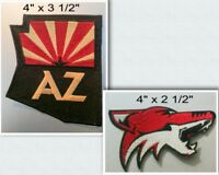 Arizona Coyotes Logo Iron On Patch Choice of Style Free Shippin in Envelope Mail