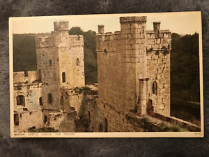 Bodiam Castle, Sussex. The Towers. Printed Postcard