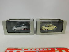AR940-1# 2x Autoart 1:43 PKW/Auto Volkswagen/VW New Beetle Cabrio, NEUW+OVP