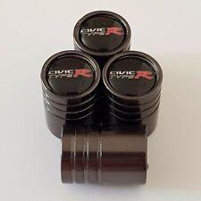 HONDA CIVIC TYPE R Titanium Grey valve Tyre Dust Caps Plastic Inside all models