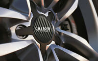 Alloy Wheel Centre Cap Badges BLACK CARBON Fit 36mm-90mm With or Without Logo
