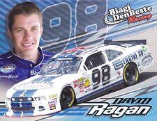 2014 David Ragan Carroll Shelby Engine Co Ford Mustang NASCAR NW postcard
