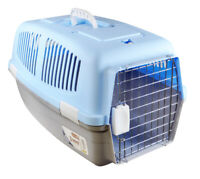Large Pet Travel Carrier Dog Cat Rabbit Basket Plastic Handle Box Crate Cage