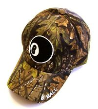 8 Ball Camouflage Camo Hat Cap Pool Billiards H1 w/ FREE Shipping
