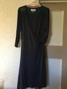 Ness Dress Large Wrap Candice Navy Elegant Artisan