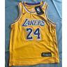Youth/Kids Kobe Bryant #24 Los Angeles Lakers Yellow Hardwood Basketball Jersey