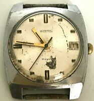 Ussr Wostok 18 Jewels Watch Vintage Vostok Soviet Men Wrist Rare Mechanical Old