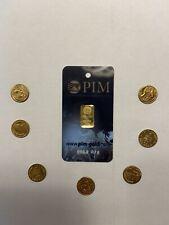 lingotto oro 999 G.0,10 Con Monete