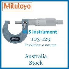 Genuine Mitutoyo 103-129 Micrometer 0-25mm with Vernier 0.001mm Australia Stock