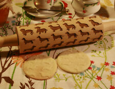 Engraved wooden rolling pin Dachshunds Dog