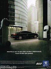 Publicité advertising 2005 Peugeot 607 V6 HDi