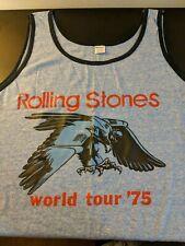 Vintage ROLLING STONES 1975 WORLD TOUR Concert Tour TANK TOP. NM. Extra Large.