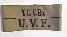 UVF Ulster Volunteer Force YOUNG CITIZEN VOLUNTEER BATTALION Jn OFFICER Armband