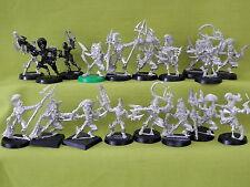 WARHAMMER Elfi Oscuri Esercito-Modelli di Metallo x 18