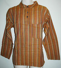 """New Bares Grandad Collared Shirt S chest up to 38"""" Hippy Ethnic Fair Trade"""