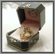RARE JUICY COUTURE GOLD DUAL HEART BEST FRIEND BFF CHARM NIB