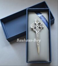 KILT PIN PEWTER ORNATE CELTIC KNOTWORK CROSS MADE IN SCOTLAND Sgian Dubh Company