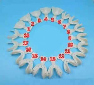 Dental Edentulous Jaw Impression Trays Full/Complete Denture Teeth Repair 1Kit